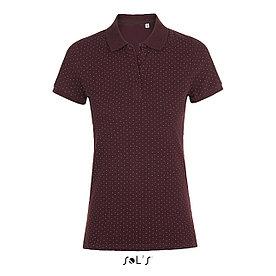Рубашка поло женская Brandy, бордовая с белым