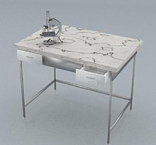 Стол химический, 2 ящика, ц/м, 1200х600х820 мм
