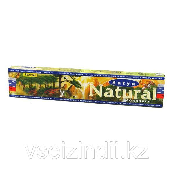 Благовония натуральные заводские, Natural.  Satya Agarbatti  10 гр