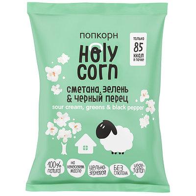 "Попкорн Holy Corn ""Сметана, зелень, черный перец"" (20г)"