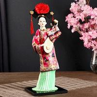 Кукла коллекционная'Китаянка в национ. платье с муз.инструмен. - пипой'МИКС 32х12,5х12,5см
