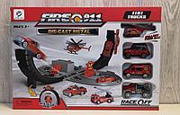 Детский трек с пожарными машинками