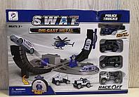 Детский трек с полицейскими машинками