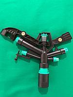 Спринклер поливной, ударный, пластиковый, 5 форсунок (радиус полива 18-25м)