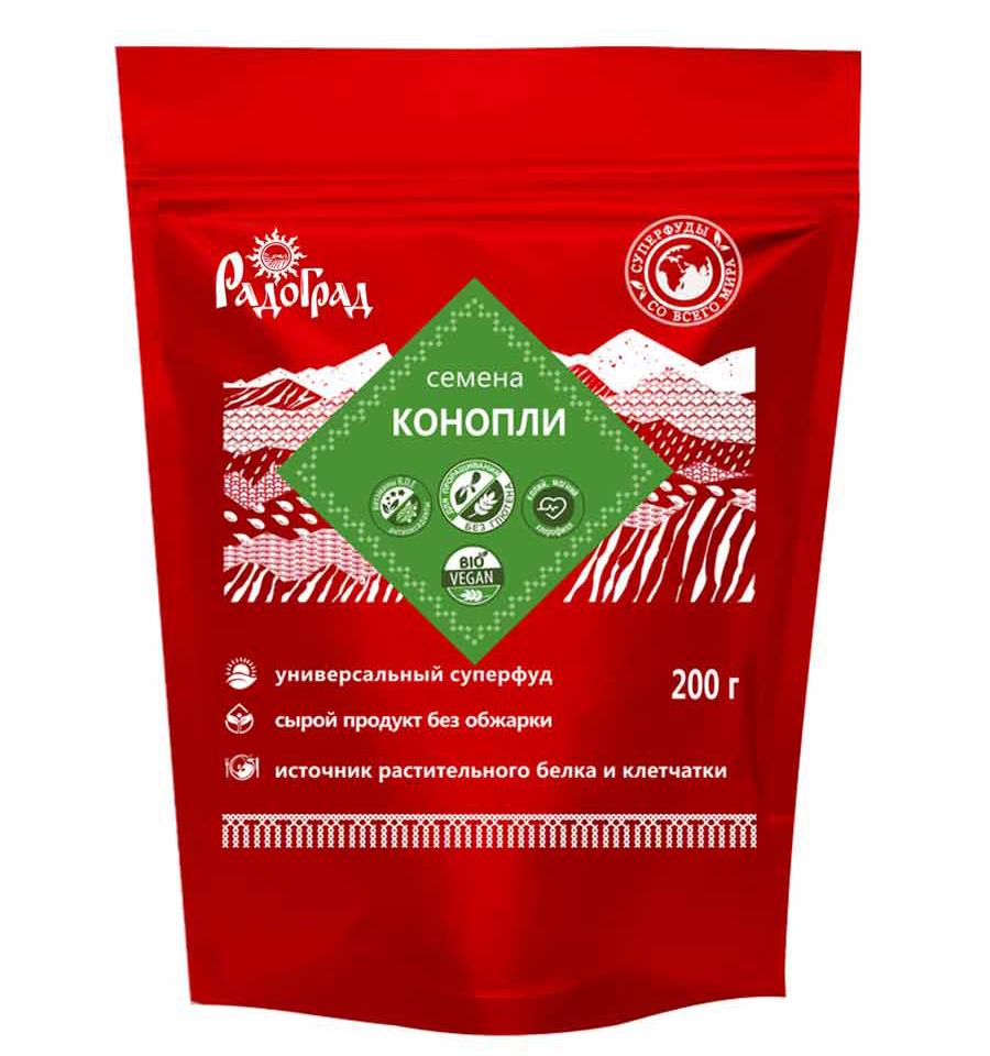 """Семена конопли """"Радоград"""" 200 гр"""