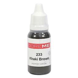 Пигменты  Doreme 233 Khaki Brown, 15 мл (0.5oz), 1 шт для бровей