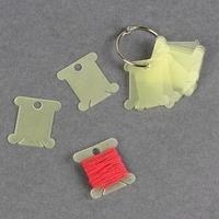 Набор шпулек для ниток мулине, на кольце, d  3,5 см, 10 шт, цвет МИКС (комплект из 2 шт.)