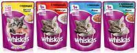 Whiskas, Вискас ассорти. влажный корм для кошек, пауч 24шт.*85 гр.