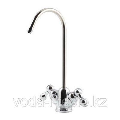 Хромировнный двойной кран для чистой воды GF-05