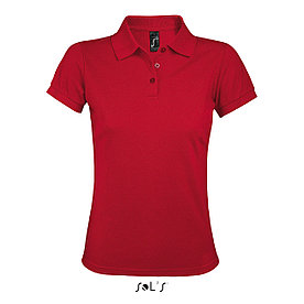 Женская рубашка поло Prime, красная