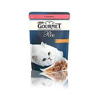 Gourmet Perle Mini Fillets Salmon in Sauce, Гурмэ Перл нежный кусочки лосося в соусе, уп.24* 85 гр.