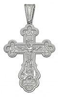 Мужской крест серебро 925