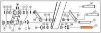 Палец рукоять-ковш 208-70-73520 для экскаватора Komatsu PC400