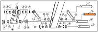 Палец трапеция-рукоять 208-70-73131 для экскаватора Komatsu PC400