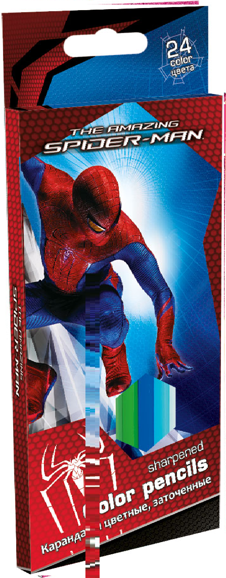 Карандаши, 24 цв. Spider-man