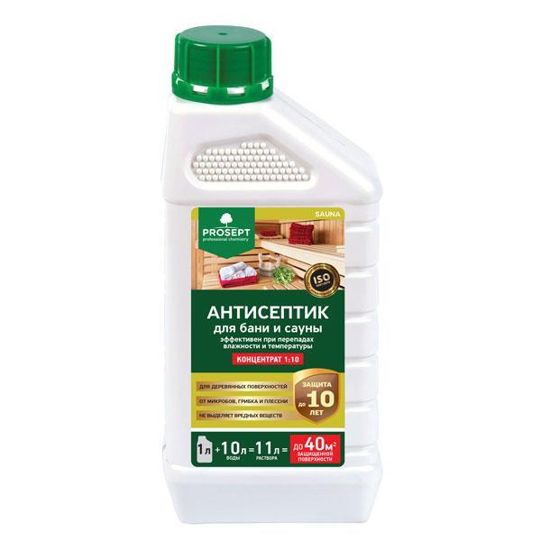 Пропитка антисептик для бань и саун 004-1 SAUNA(САУНА) концентрат 1:10, 1 л.