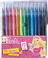 Набор цветных фломастеров, 12 шт Барби