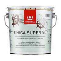 Лак Уника-супер ЕР 90 глянцевый 2,7л уретаново-алкидный Тиккурила (комплект из 3 шт.)