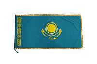 Знамя РК 0,8*1,6 м (с бахромой, атлас)