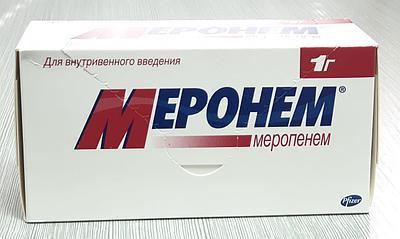 Меронем (Меропенем) 1 г №10 флак., Pfizer, Италия (Европа)