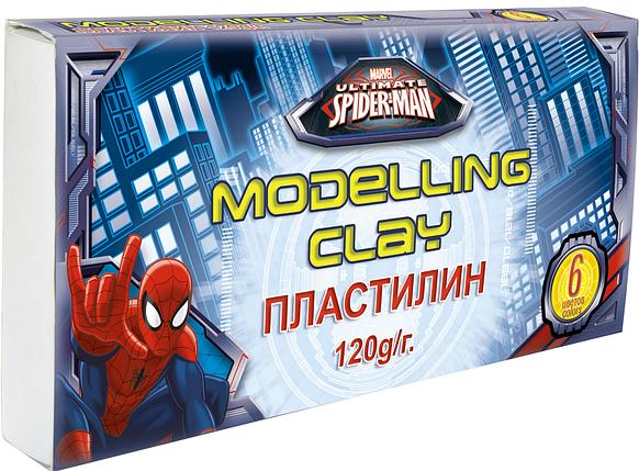 Пластилин, 6 цветов. Spider-man Classic, фото 2