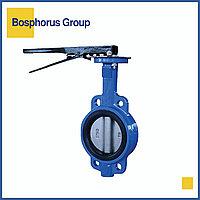 Затвор чугунный поворотный дисковый межфланцевый Ду 50 Ру 16, 32ч1р (вода, +80)