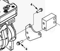 Болт заднего крепления компрессора Cummins ISL9, QSL 3925344, 3094566