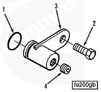 Болт крепления патрубка воздушного компрессора Cummins M11 3036230