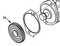 Шестерня привода воздушного компрессора Cummins ISL9, QSL 3942497