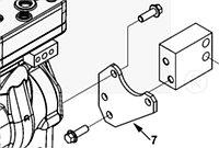 Кронштейн крепления компрессора задний Cummins ISL9, QSL 3942911