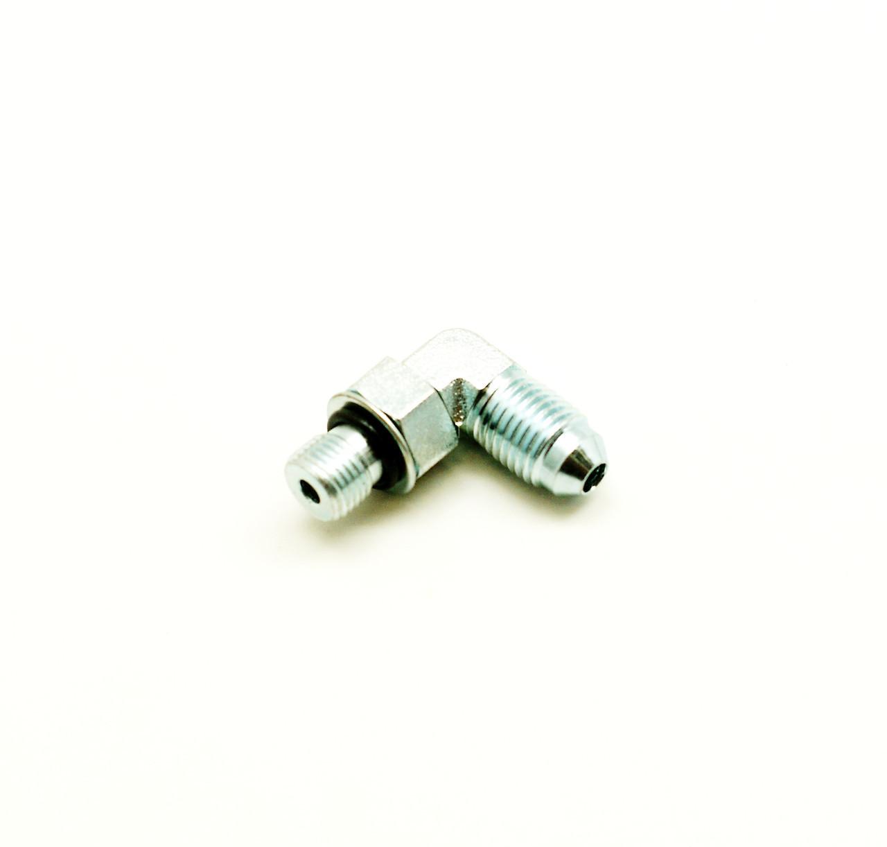 Штуцер компрессора угловой в сборе Cummins ISL9, QSL 3945212, 5273653