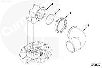Патрубок коллектора впускного Cummins ISL9, QSL 3968371