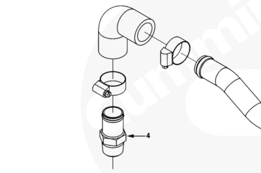 Воздушный штуцер компрессора Cummins ISL9, QSL 3971672, 3969973