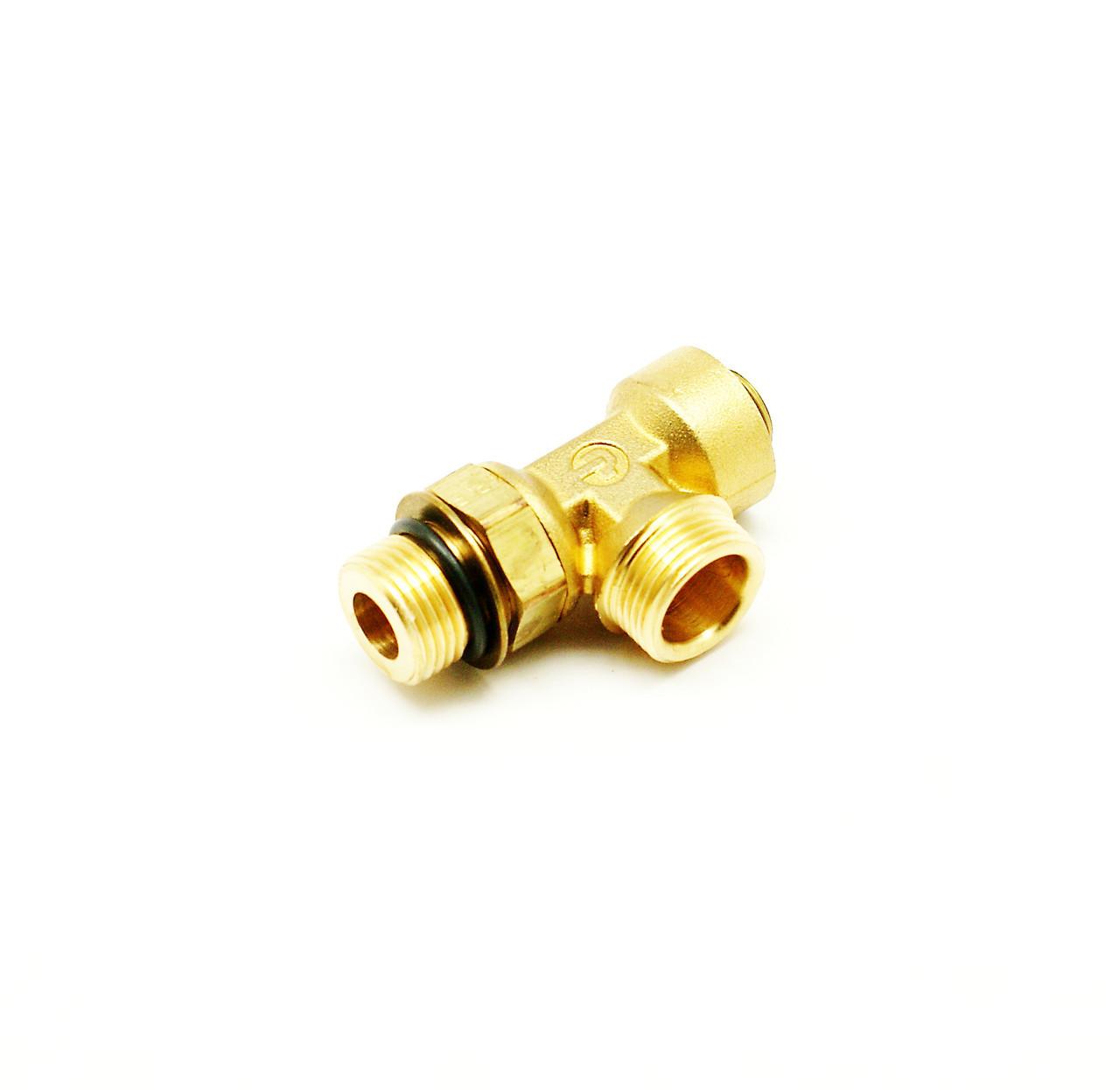 Адаптер-тройник охлаждения компрессора в сборе Cummins ISL9, QSL 3975240, 3975259