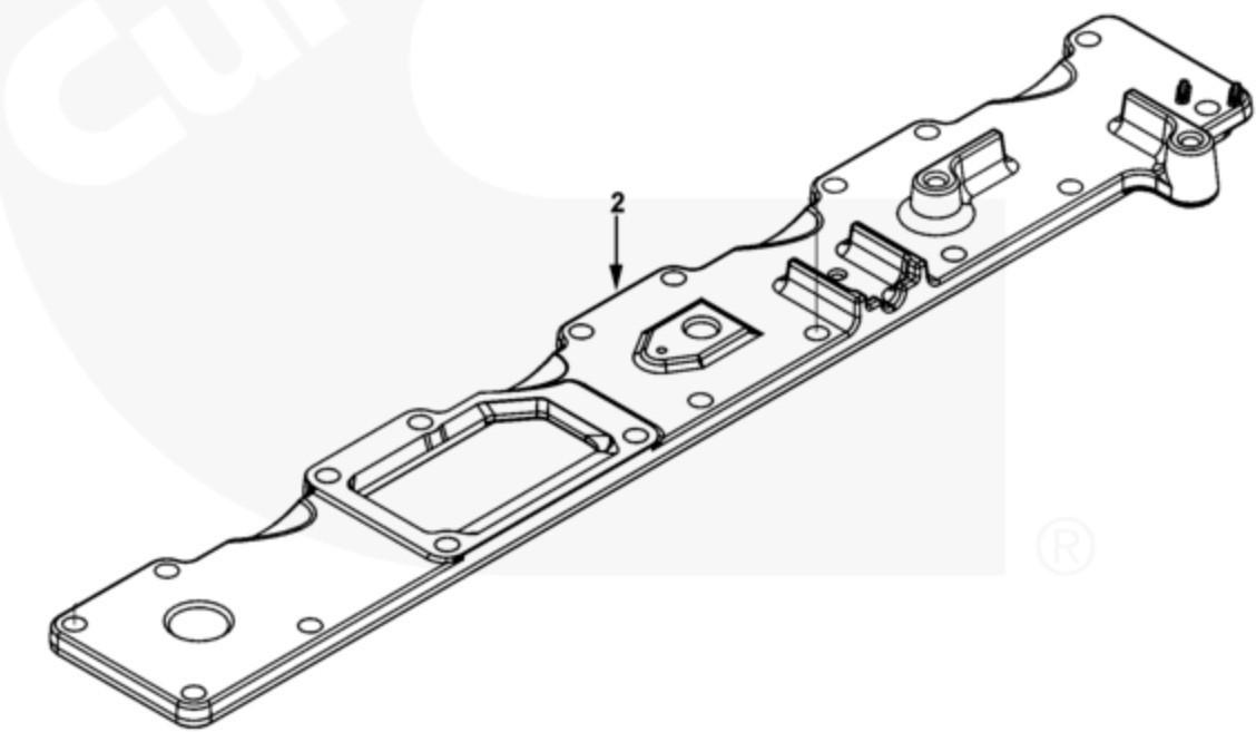 Крышка впускного коллектора Cummins ISL9, QSL 3976716
