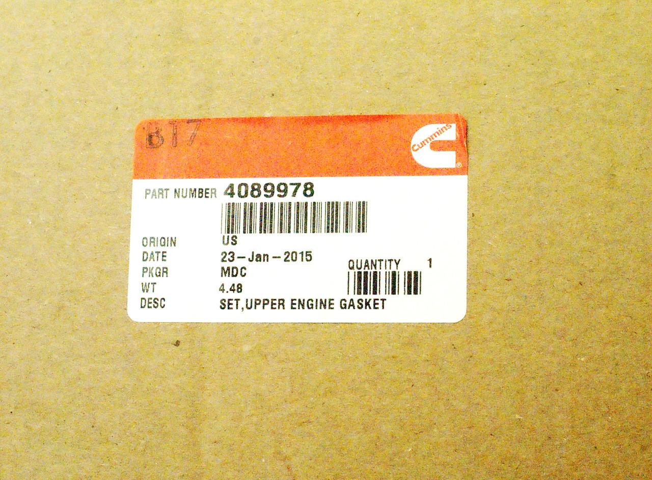 Комплект прокладок (верх) Cummins QSL 4089978 5579030 5529494