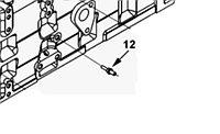 Болт-штифт с шестигранной головкой и фланцем Cummins ISL9, QSL 3936352