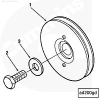 Болт шкива привода вспомогательных агрегатов Cummins M11 3818229
