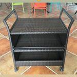 Сервировочный столик-тележка из ротанга, фото 2