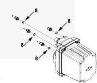 Кольцо уплотнительное штуцера насоса мочевины Cummins ISL9, QSL 4935805