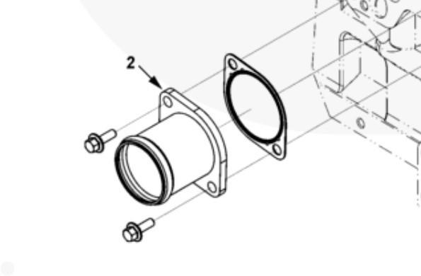 Патрубок входной системы охлаждения Cummins ISL9, QSL 3913030