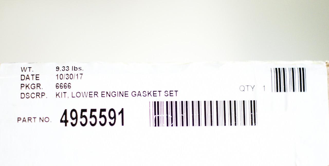Прокладки двигателя, нижний комплект Cummins 4955591