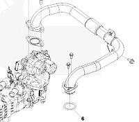 Кольцо уплотнительное патрубка ЕГР впускного коллектора Cummins ISF 2.8 5269869
