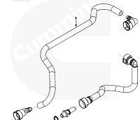 Трубка топливная (длинная) охладителя модуля управления Cummins ISL9, QSL 4988666, 4932393, 4932394