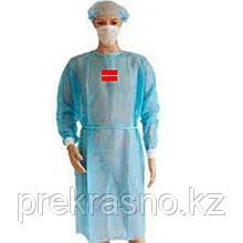 Халаты одноразовые 5 шт голубой 20 гр/м голубой