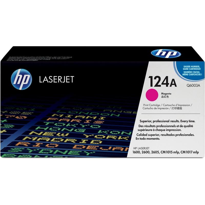 HP Q6003A Картридж лазерный HP124A пурпурный, ресурс 2000 страниц (5% заполнение)