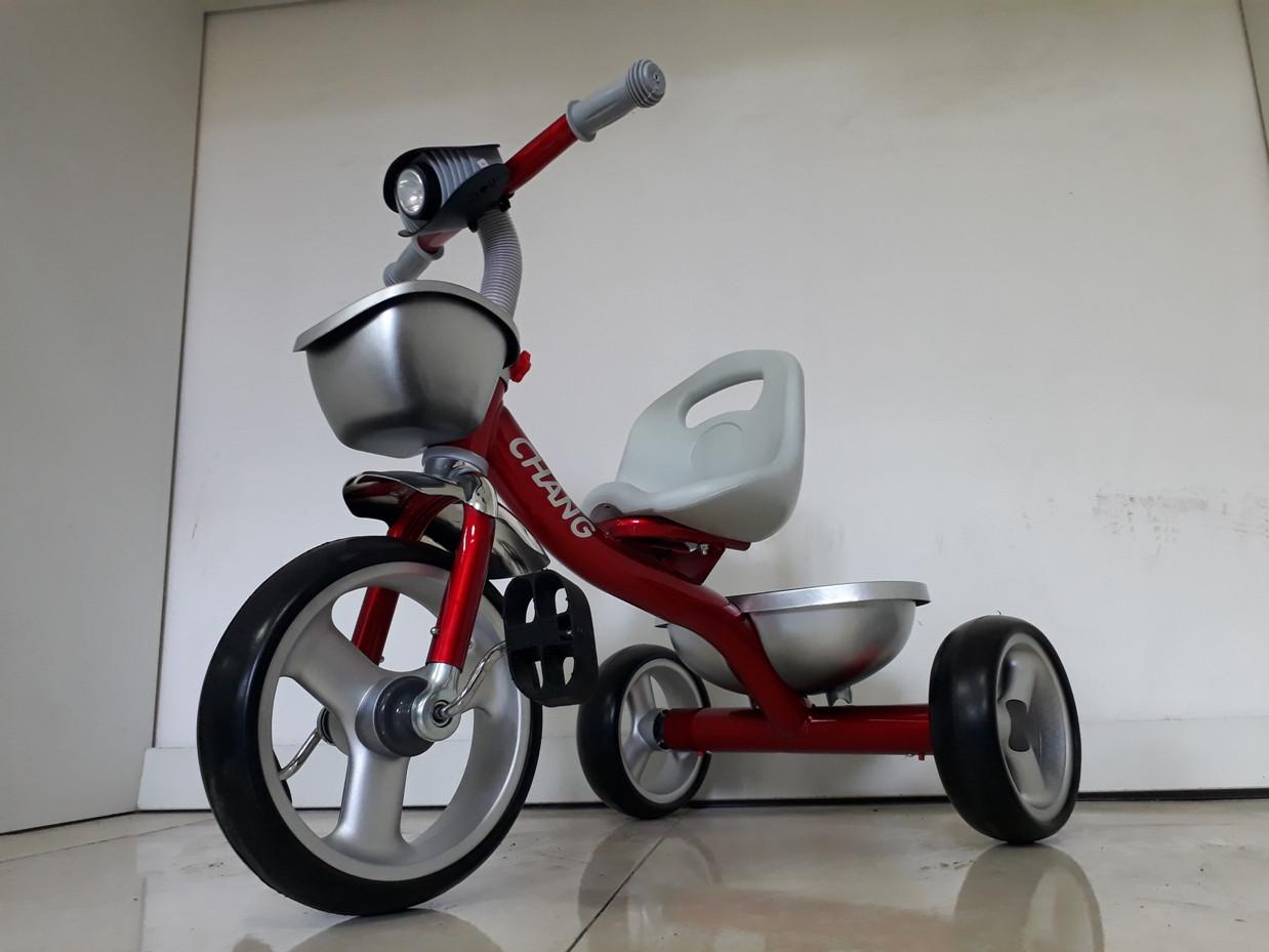 """Детский трехколесный велосипед """"Chang"""" с передней фарой"""