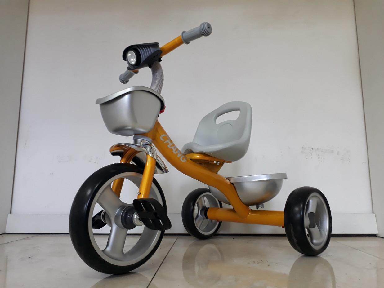 """Детский трехколесный велосипед """"Chang"""" с фонарем"""