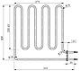 Электрический ТЭН ZSB-226 (2000W, 230V) для печей Harvia, фото 6