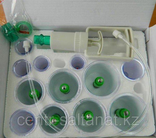 Вакуумные банки для тела и массажа 12 шт - фото 1